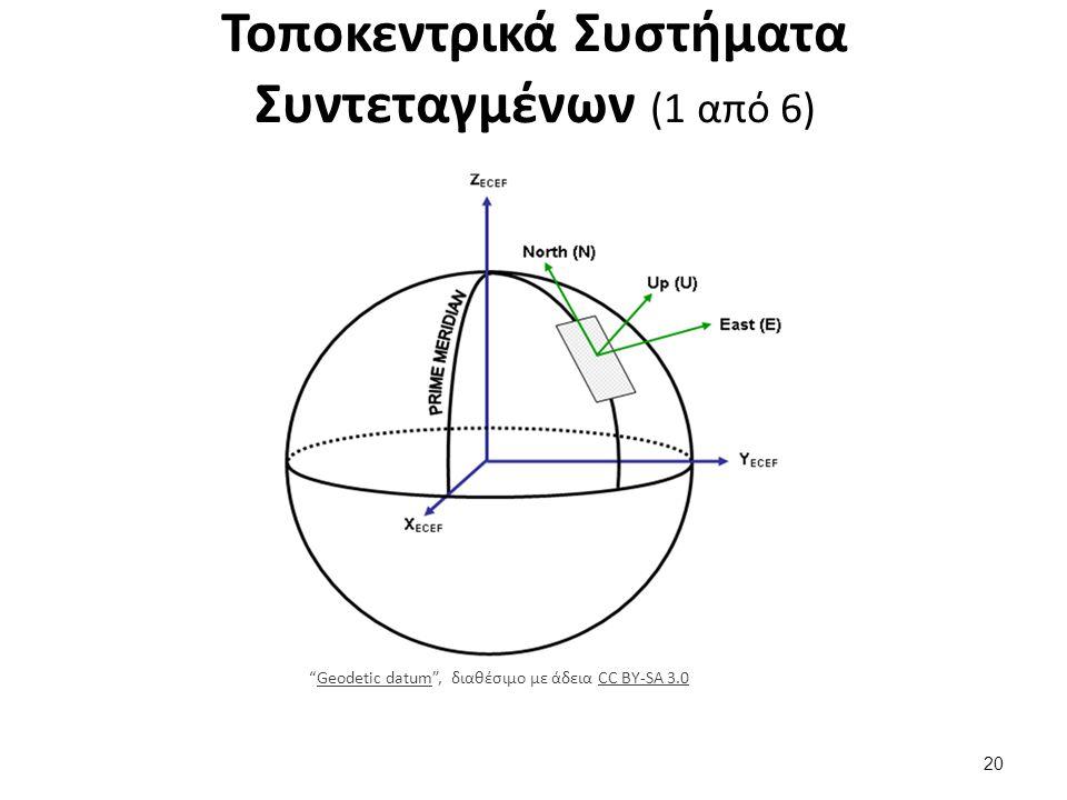 Τοποκεντρικά Συστήματα Συντεταγμένων (2 από 6)