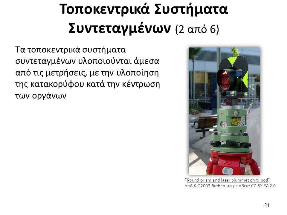 Τοποκεντρικά Συστήματα Συντεταγμένων (3 από 6)