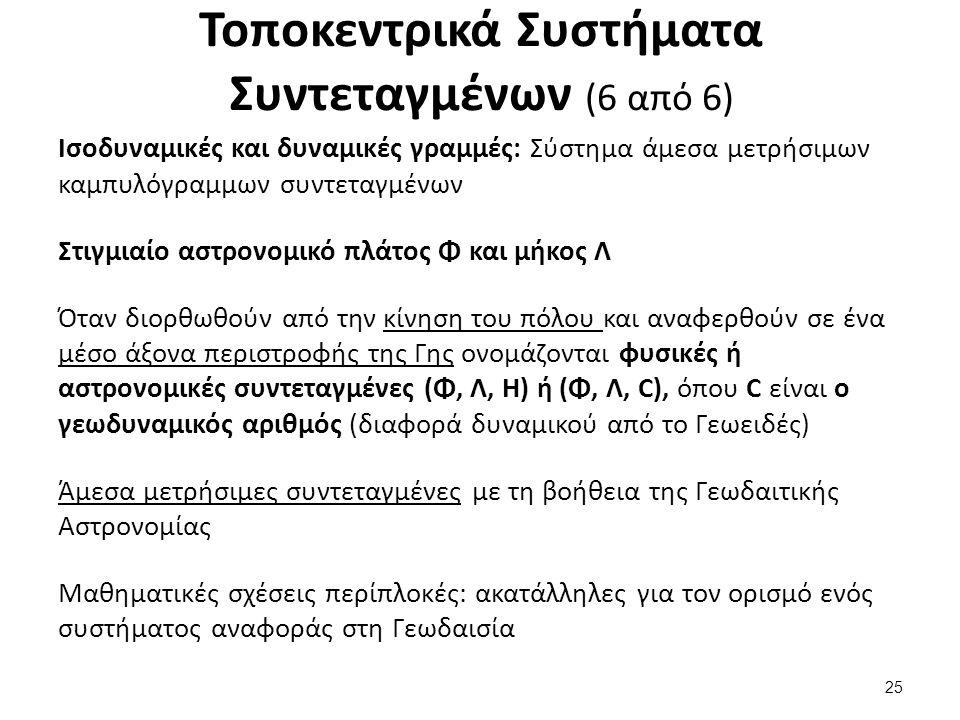 Παράμετροι Ελλειψοειδούς Αναφοράς (1 από 3)