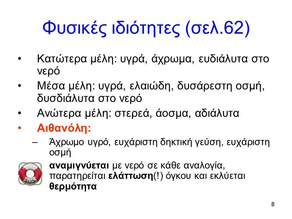 Φυσικές ιδιότητες (σελ.62)