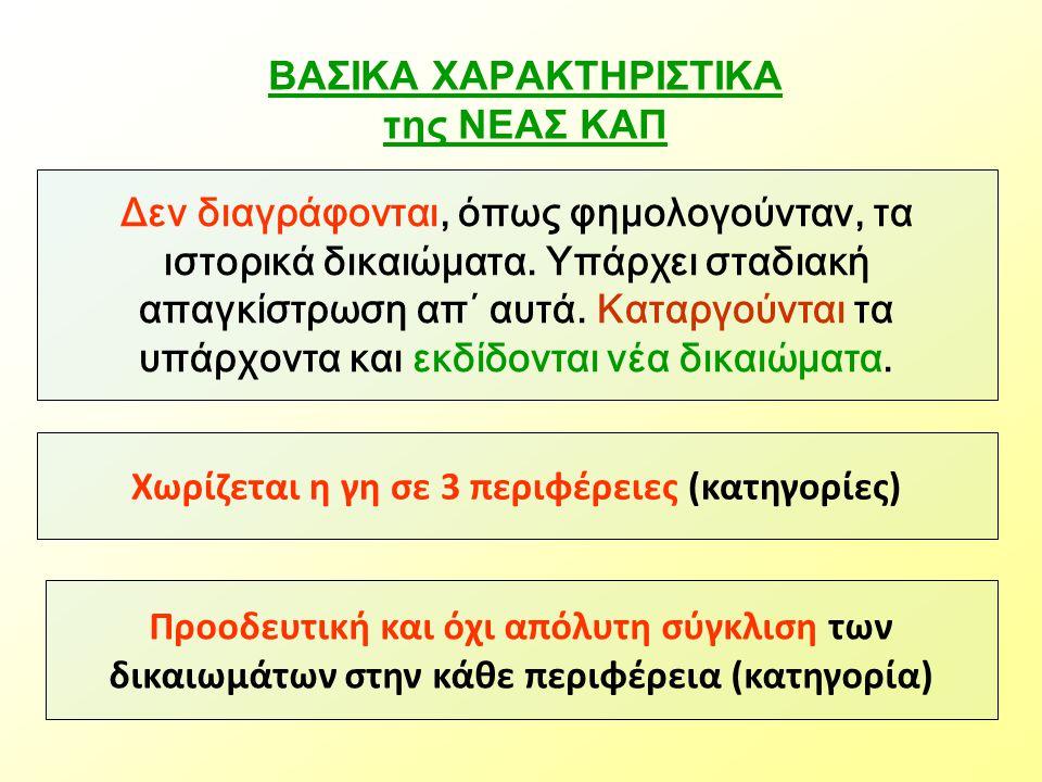 ΒΑΣΙΚΑ ΧΑΡΑΚΤΗΡΙΣΤΙΚΑ της ΝΕΑΣ ΚΑΠ