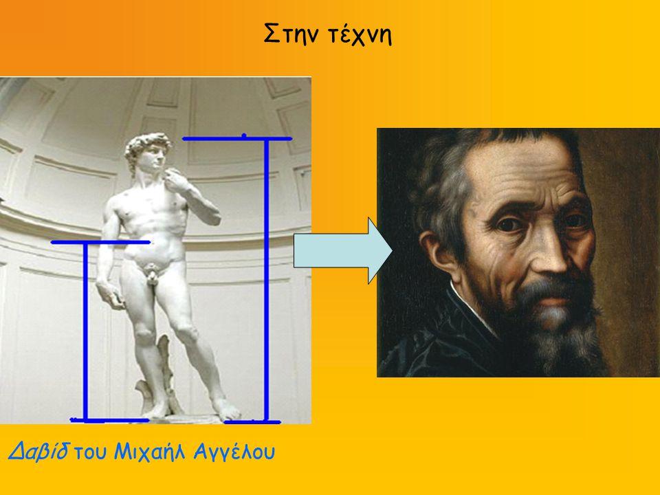 Στην τέχνη Δαβίδ του Μιχαήλ Αγγέλου