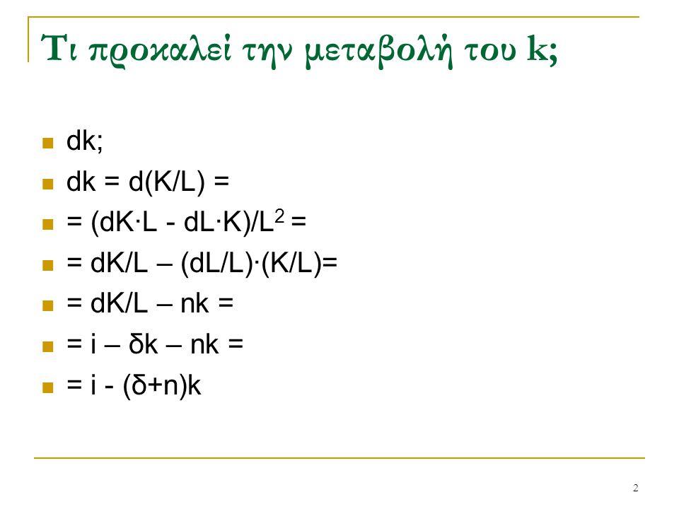 Τι προκαλεί την μεταβολή του k;