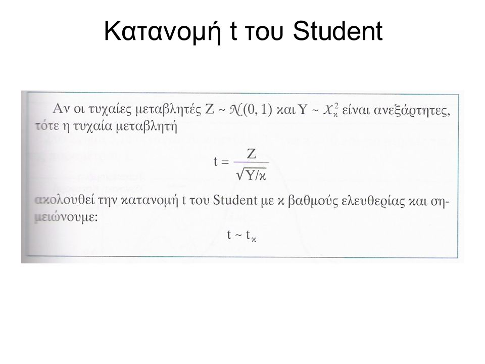 Κατανομή t του Student