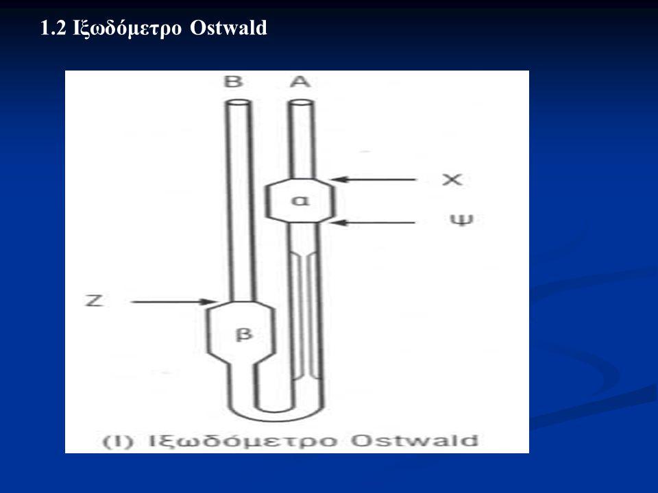 1.2 Ιξωδόμετρο Ostwald