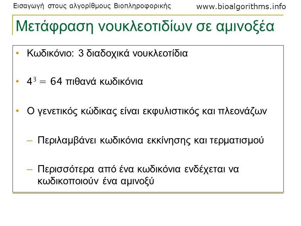 Μετάφραση νουκλεοτιδίων σε αμινοξέα