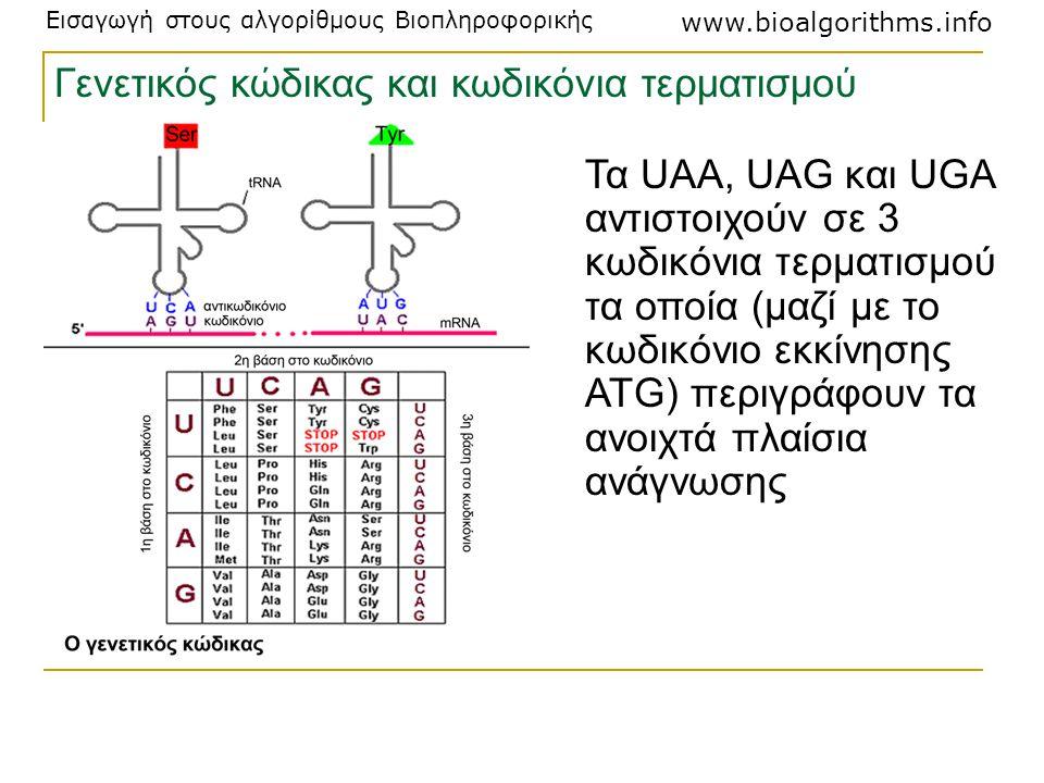 Γενετικός κώδικας και κωδικόνια τερματισμού