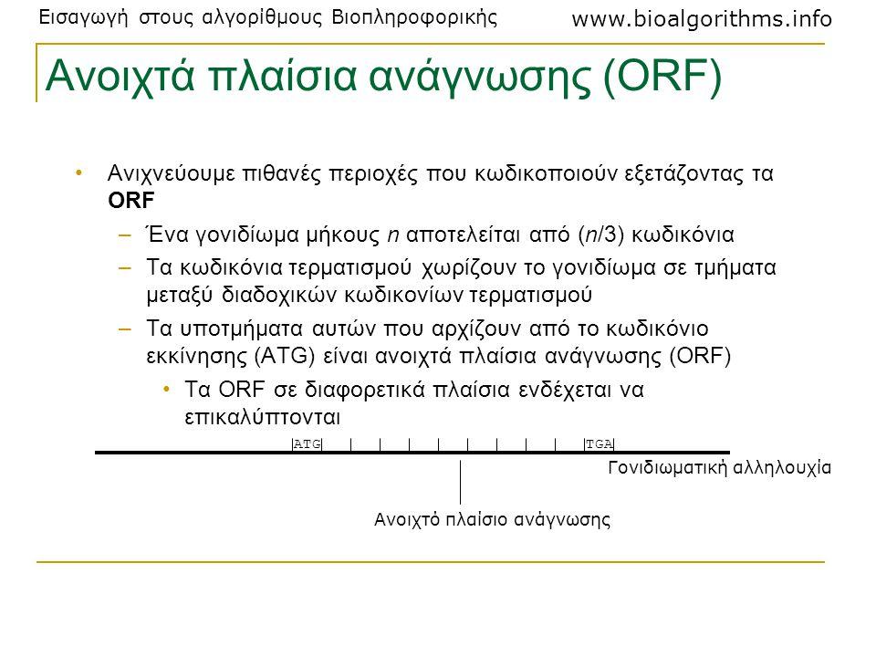 Ανοιχτά πλαίσια ανάγνωσης (ORF)