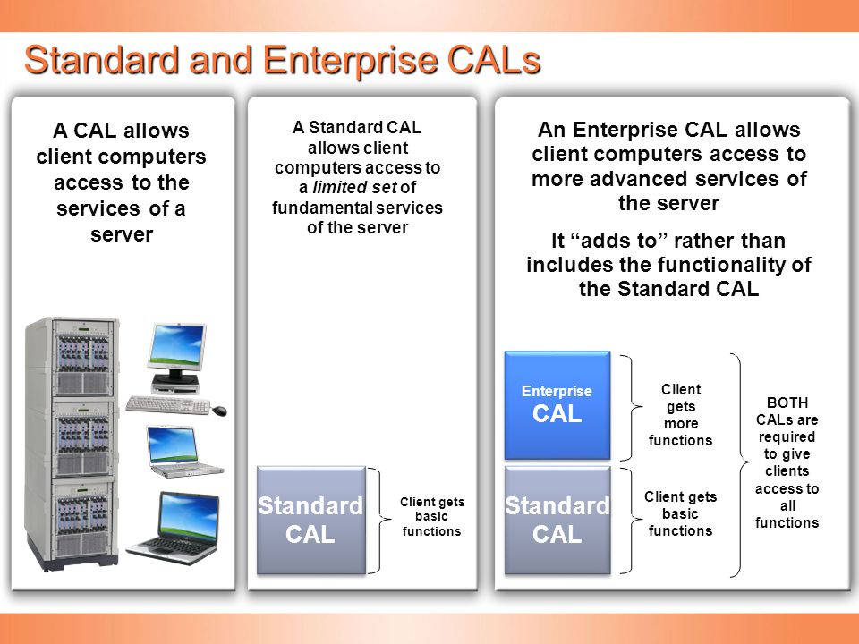 Standard and Enterprise CALs