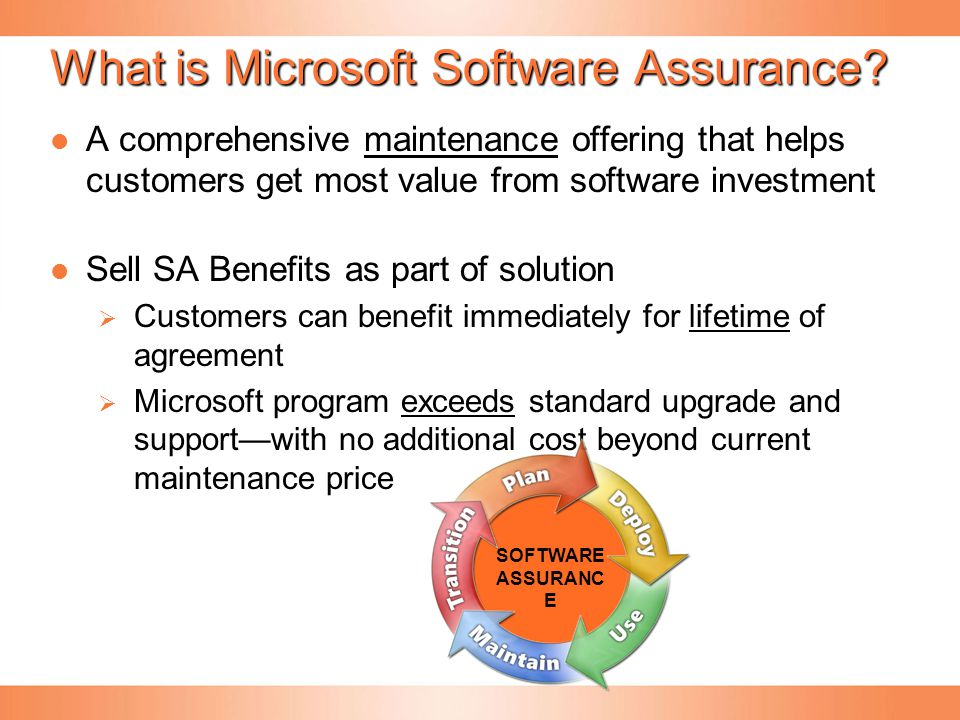 What is Microsoft Software Assurance