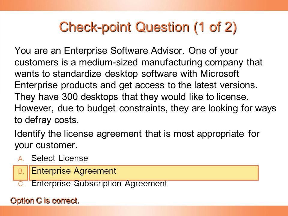 Check-point Question (1 of 2)