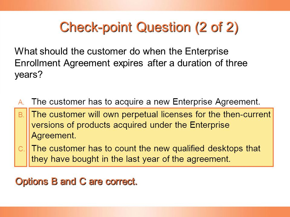 Check-point Question (2 of 2)