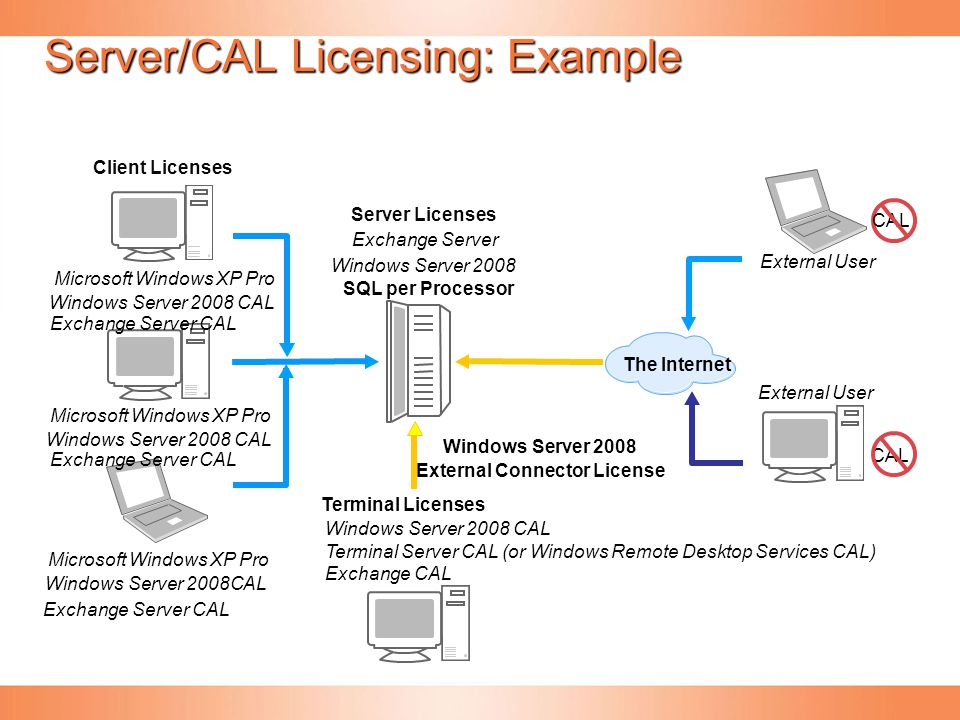 Server/CAL Licensing: Example
