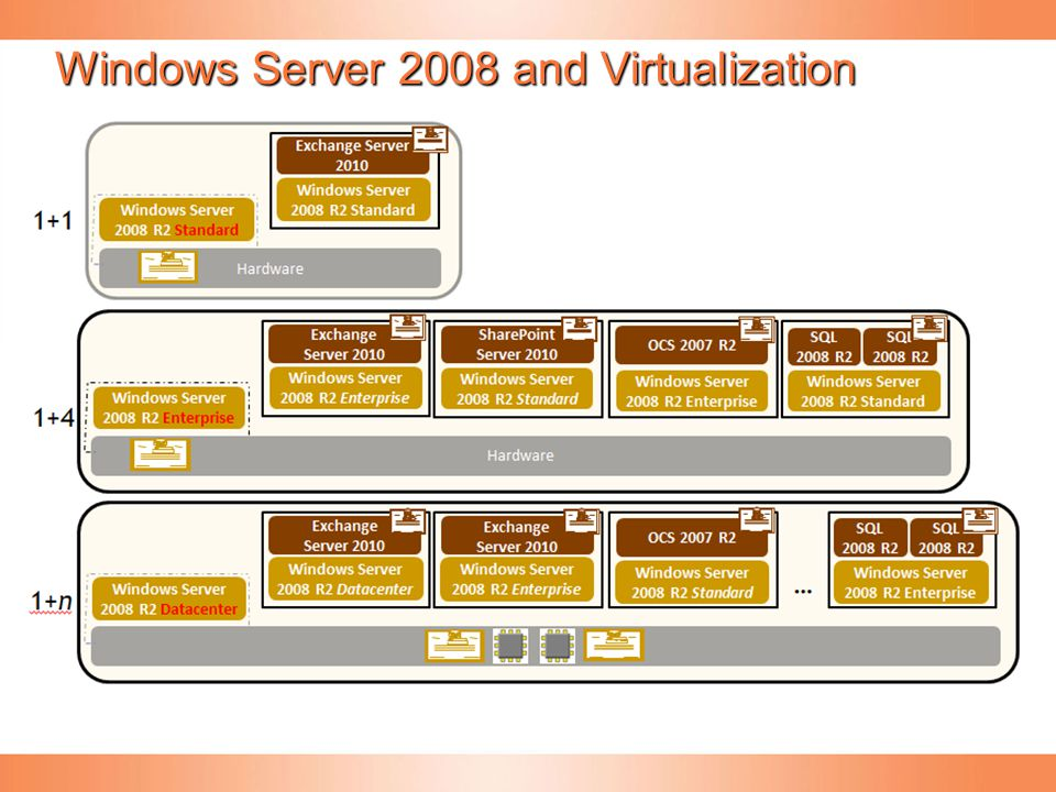 Windows Server 2008 and Virtualization Rights