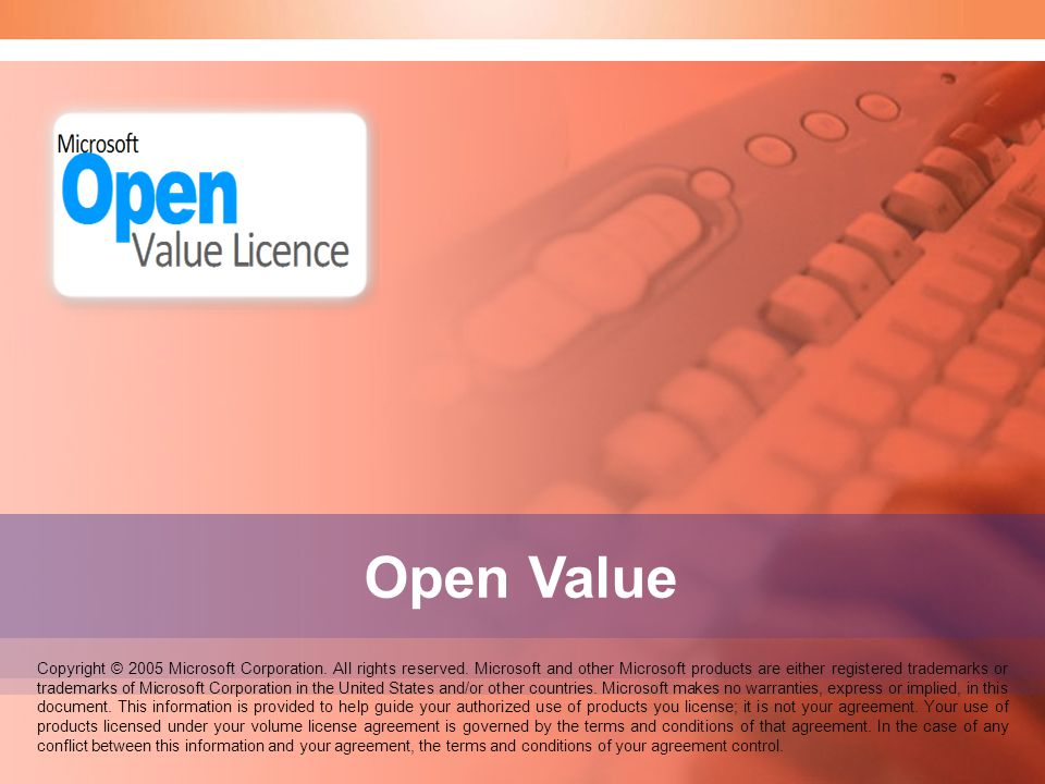 Speaker Notes: Welcome to the Open Value seminar. Open Value.