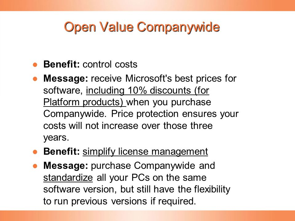 Open Value Companywide