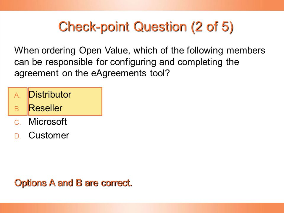Check-point Question (2 of 5)