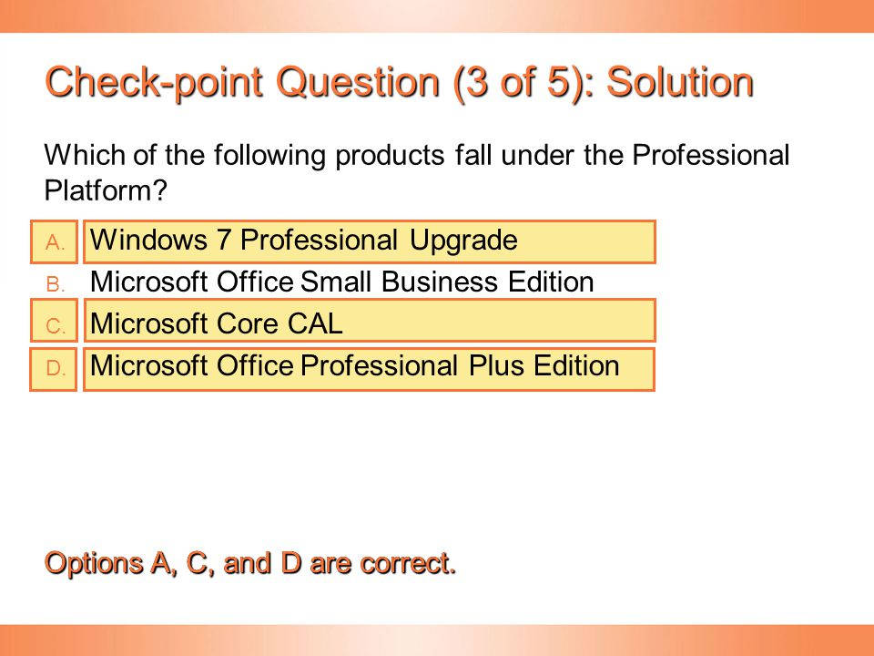 Check-point Question (3 of 5): Solution