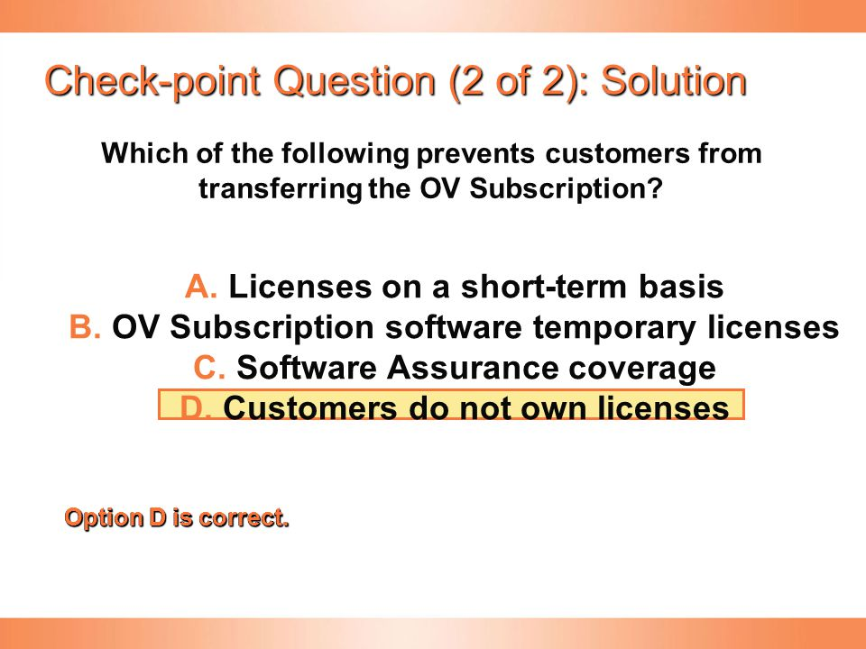 Check-point Question (2 of 2): Solution