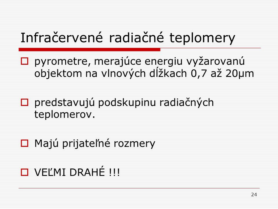 Infračervené radiačné teplomery