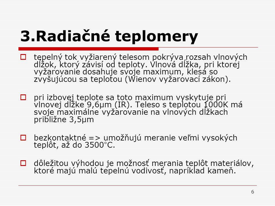 3.Radiačné teplomery