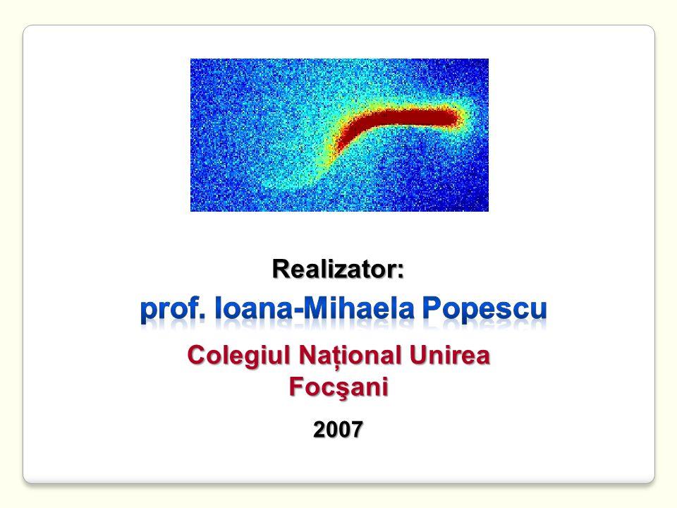 Colegiul Naţional Unirea prof. Ioana-Mihaela Popescu