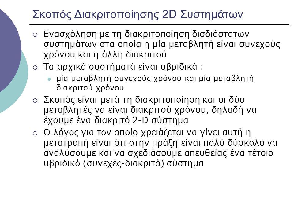Σκοπός Διακριτοποίησης 2D Συστημάτων
