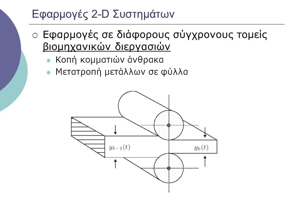 Εφαρμογές 2-D Συστημάτων