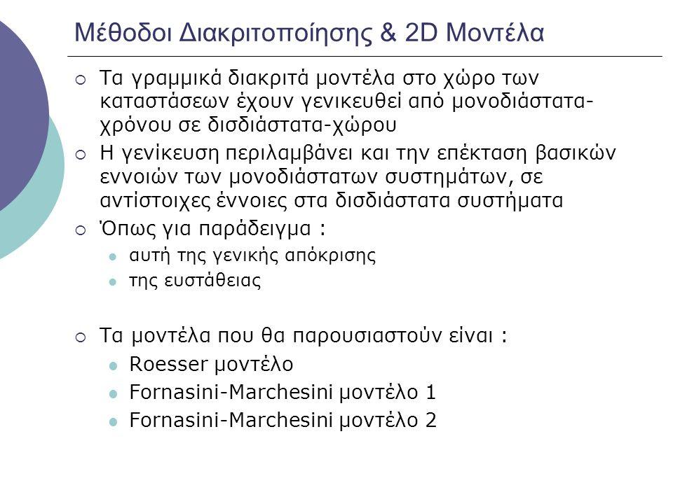 Μέθοδοι Διακριτοποίησης & 2D Μοντέλα