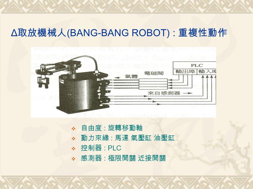 Δ取放機械人(BANG-BANG ROBOT) : 重複性動作