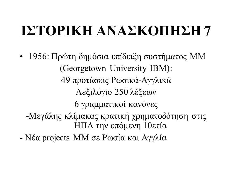 ΙΣΤΟΡΙΚΗ ΑΝΑΣΚΟΠΗΣΗ 7 1956: Πρώτη δημόσια επίδειξη συστήματος ΜΜ