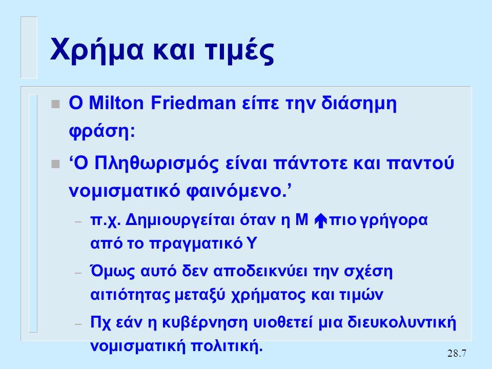 Χρήμα και πληθωρισμός (2)