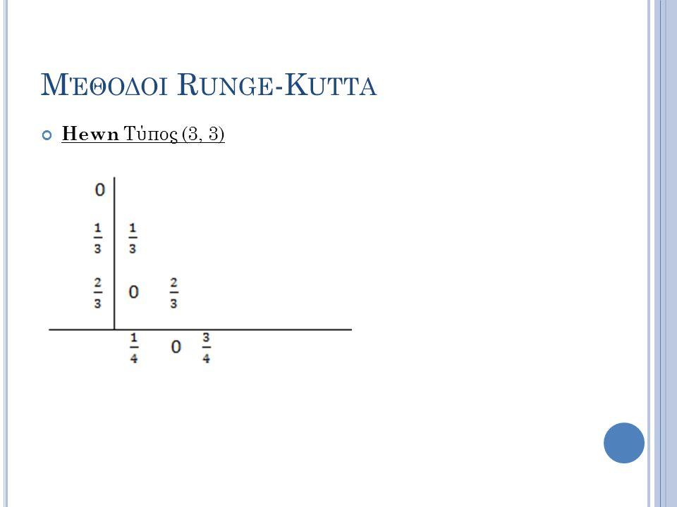 Μέθοδοι Runge-Kutta Hewn Τύπος (3, 3)