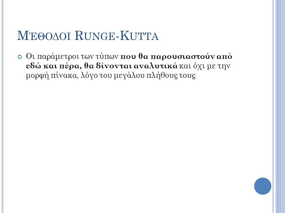 Μέθοδοι Runge-Kutta