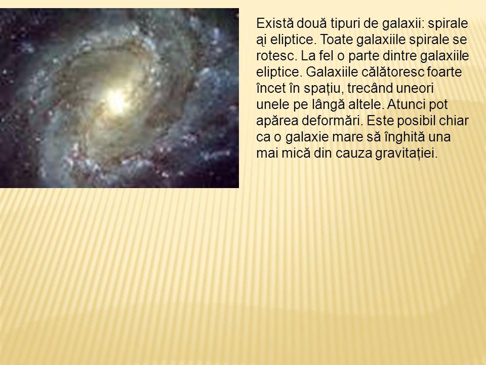 Există două tipuri de galaxii: spirale ąi eliptice