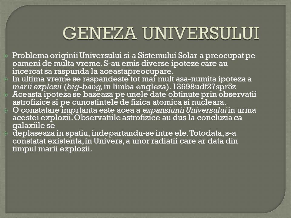 GENEZA UNIVERSULUI