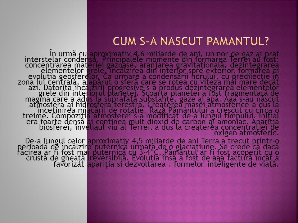 CUM S-A NASCUT PAMANTUL