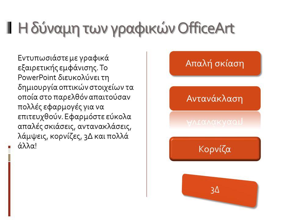 Η δύναμη των γραφικών OfficeArt