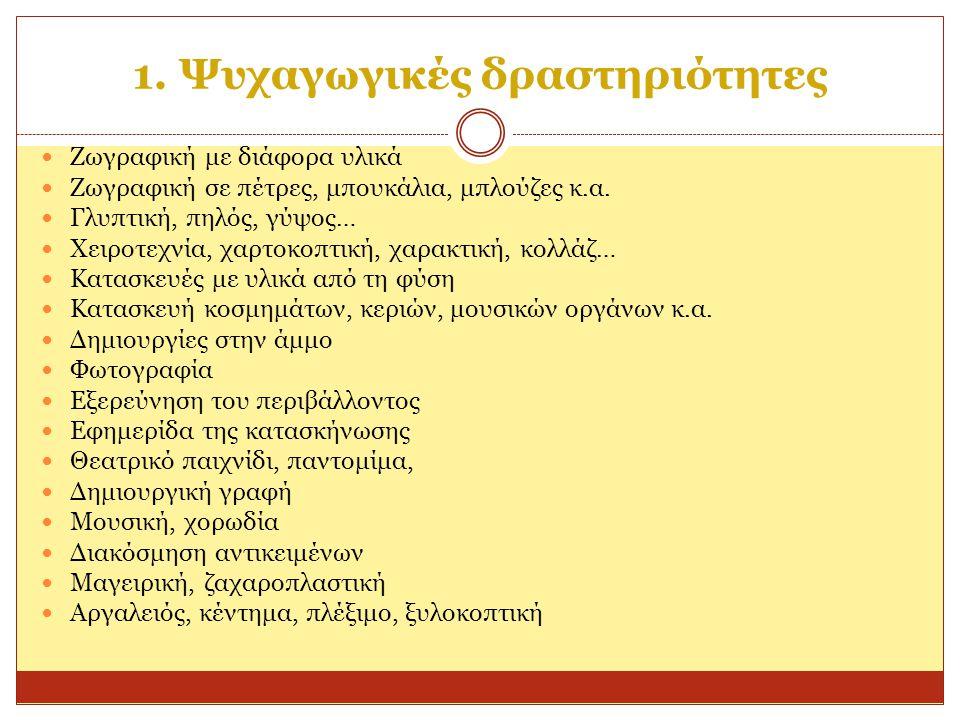 1. Ψυχαγωγικές δραστηριότητες
