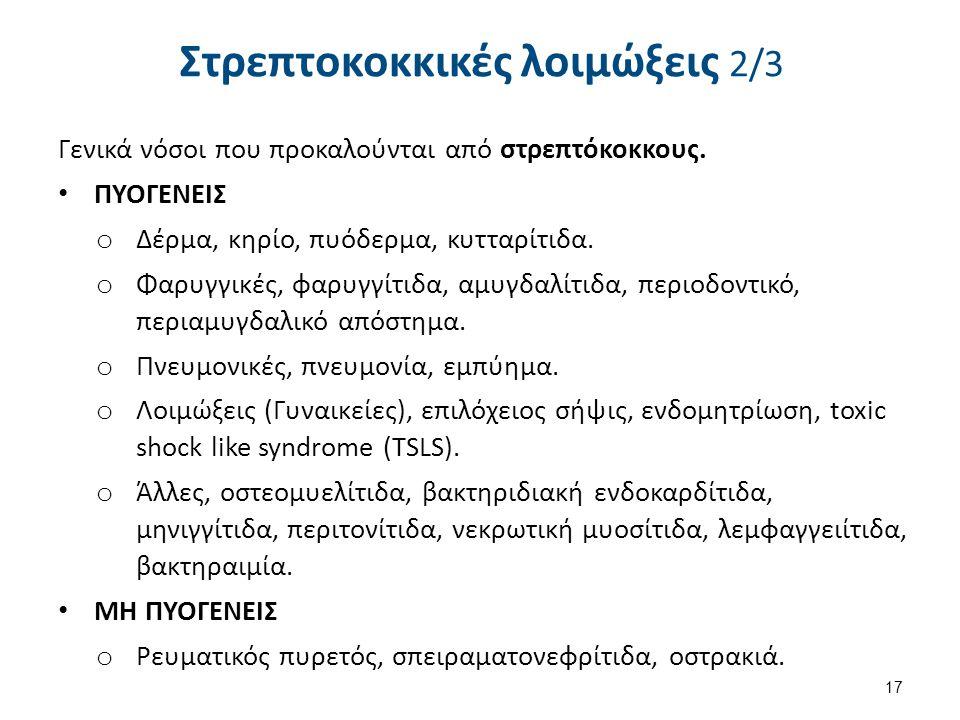 Στρεπτοκοκκικές λοιμώξεις 3/3