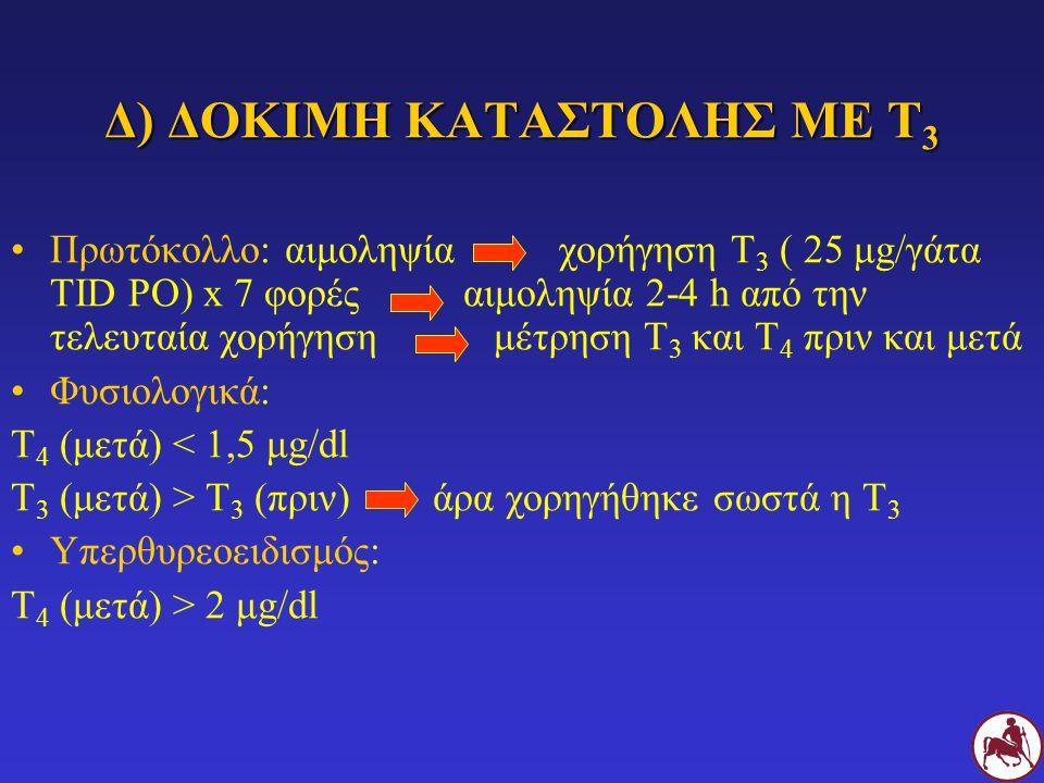 Δ) ΔΟΚΙΜΗ ΚΑΤΑΣΤΟΛΗΣ ΜΕ Τ3
