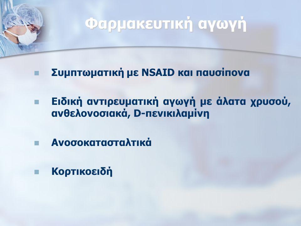 Φαρμακευτική αγωγή Συμπτωματική με NSAID και παυσίπονα