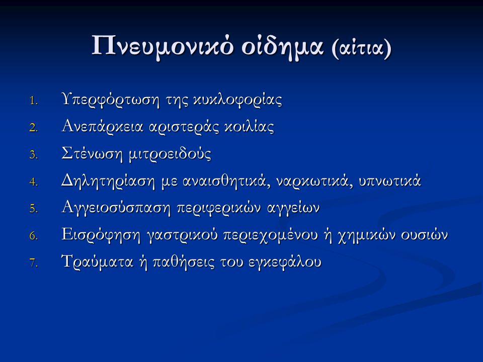 Πνευμονικό οίδημα (αίτια)
