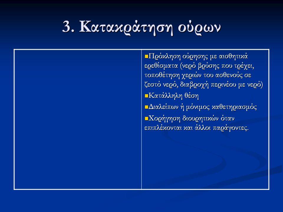 3. Κατακράτηση ούρων
