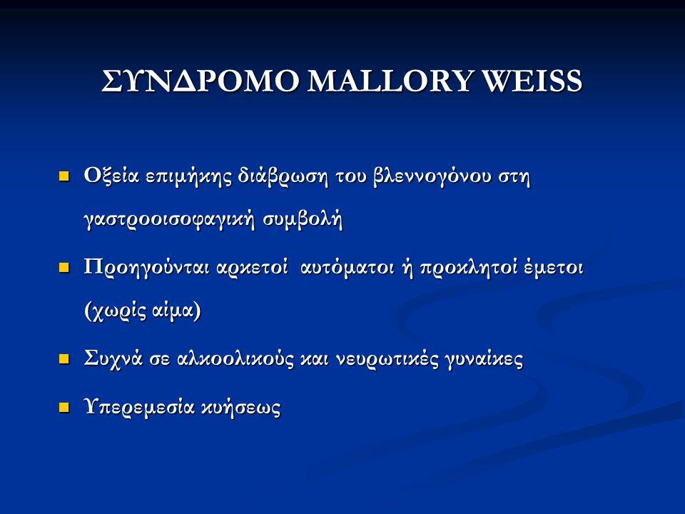 ΣΥΝΔΡΟΜΟ MALLORY WEISS