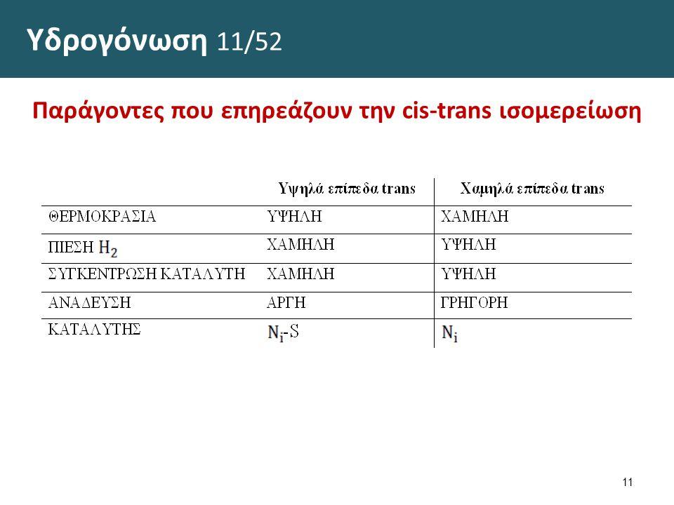 Υδρογόνωση 12/52