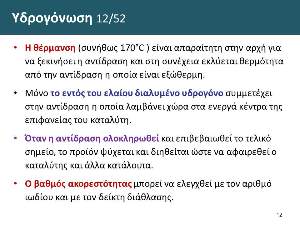 Υδρογόνωση 13/52