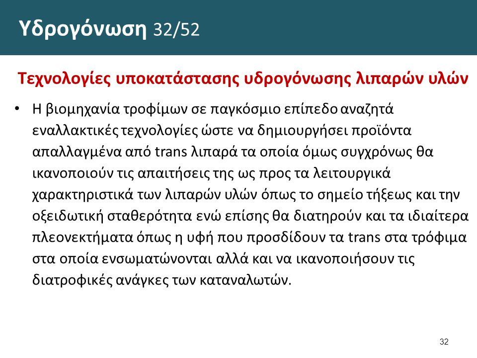 Υδρογόνωση 33/52