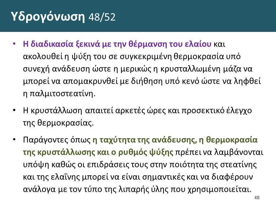 Υδρογόνωση 49/52