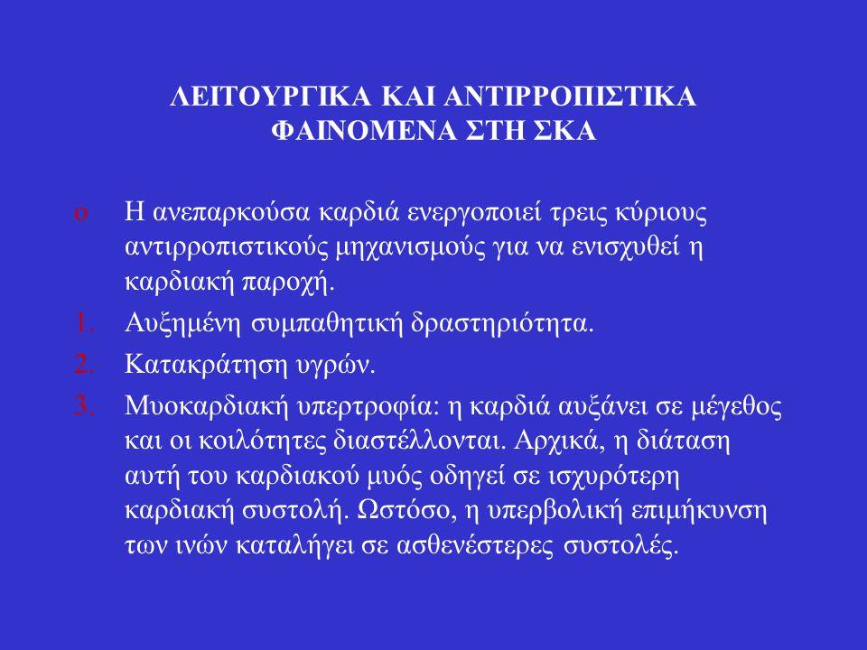 ΛΕΙΤΟΥΡΓΙΚΑ ΚΑΙ ΑΝΤΙΡΡΟΠΙΣΤΙΚΑ ΦΑΙΝΟΜΕΝΑ ΣΤΗ ΣΚΑ